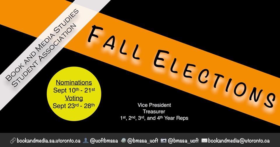 BMSSA Fall Elections